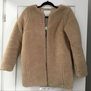 Aritzia Wilfred Teddy Coat